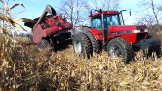 getlinkyoutube.com-Case ih 7088 combine stuck