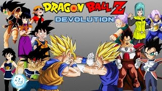 getlinkyoutube.com-Dragon Ball Z Devolution: Goku's Family vs. Vegeta's Family! [Round 1]
