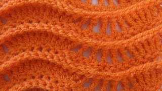 Lacy Ripple Stitch - Crochet Tutorial