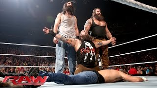 getlinkyoutube.com-Roman Reigns & Dean Ambrose vs. Bray Wyatt & Luke Harper: Raw, Aug. 24, 2015