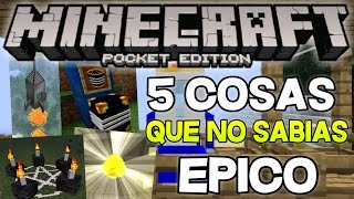 getlinkyoutube.com-5 COSAS QUE NO SABIAS QUE AGREGARON EN MINECRAFT PE 1.0 EPICO