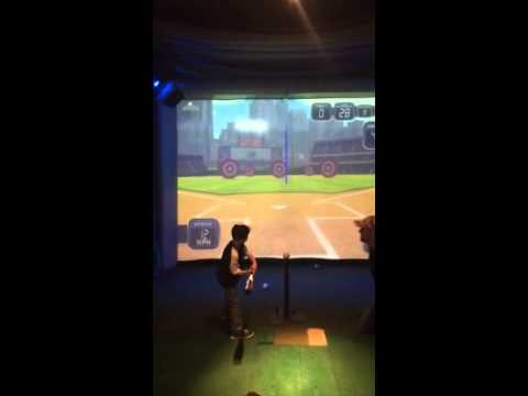 Playing Tee-Ball on a Visual Sports Simulator at Gonzo's