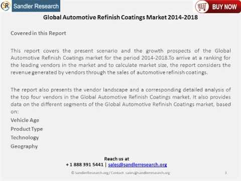 2018 Automotive Refinish Coatings Market Meticulous Research