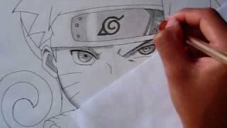 getlinkyoutube.com-Drawing Naruto vs Sasuke half-face