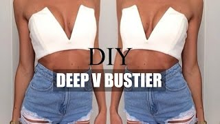getlinkyoutube.com-DIY |  HOW TO MAKE A DEEP V BUSTIER TUMBLR INSPIRED