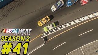 getlinkyoutube.com-The Wall Strikes Back - Full Race Friday - NASCAR Heat Evolution Career Mode S2 Ep. 41