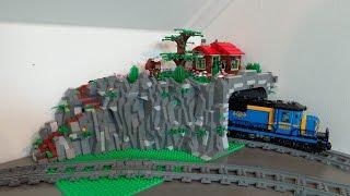 getlinkyoutube.com-New train tunnel in my Lego City