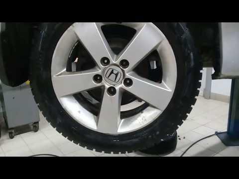 Honda Civic 2008 замена задних тормозных колодок + профилактика суппортов.