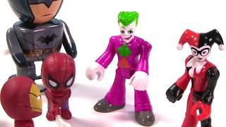 getlinkyoutube.com-Marvel & DC Comics SUPERHEROES Toy Surprise Blind Box Show! Spiderman, Batman - Stop Motion IRL