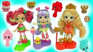 getlinkyoutube.com-Shopkins Season 7 Shoppies Tiara Sparkles, Rainbow Kate, Rosie Bloom Join The Party Dolls