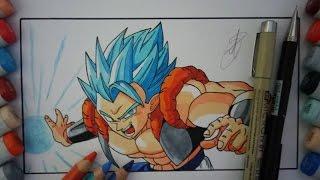 getlinkyoutube.com-DRAGON BALL HOW TO DRAW GOGETA SUPER SAIYAN GOD SUPER SAIYAN BLUE SSGSS DIBUJO A LAPIZ DRAWING  ゴジータ