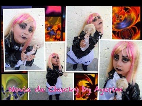 Halloween 2013: La Novia de Chucky - Makeup the bride of chucky