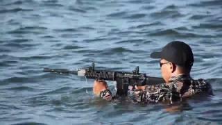 getlinkyoutube.com-NAVSOG (NAVY SEALS) TORTURES THE PVAR RIFLE UNDERWATER