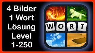 4 Bilder 1 Wort - Level 1-250 [HD] (iphone, Android, iOS)