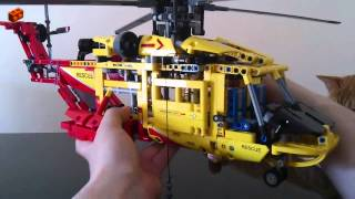 getlinkyoutube.com-LEGO Technic 9396, Helicopter Review (3/4 - Main Model)