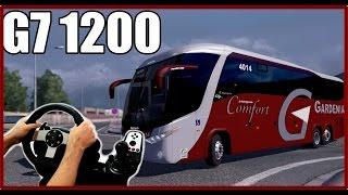 getlinkyoutube.com-Euro truck simulator 2 - Onibus Gardenia G7 1200 jogando com o Logitech g27!