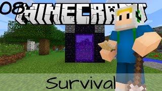getlinkyoutube.com-Minecraft เอาชีวิตรอด - EP.8 : ทำประตูนรก