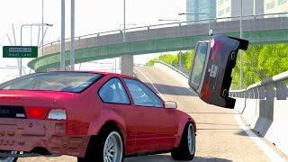 getlinkyoutube.com-BeamNG Drive High Speed Crashes #50