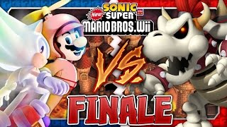 getlinkyoutube.com-Sonic & Mario in New Super Mario Bros Wii - Co Op 100% - FINALE