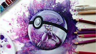 getlinkyoutube.com-Pokemon Speed Drawing: Pokemon Go Themed Painting