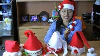 getlinkyoutube.com-Como hacer Gorros Navideños fácil y rapído :: Gorro de Papa Noel o Santa Claus