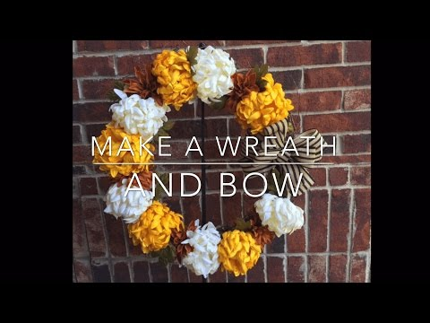 How to Make a Wreath and Bow Tutorial DIY