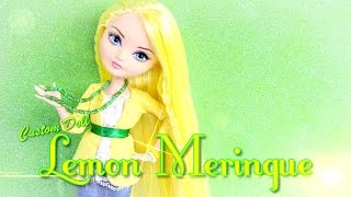 getlinkyoutube.com-DIY - Custom Doll: STRAWBERRY SHORTCAKE Lemon Meringue - Handmade - Doll - Crafts