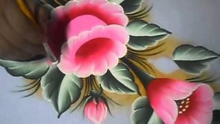 getlinkyoutube.com-È muito simples pintar esse lírio !!!!