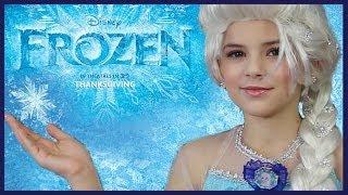 getlinkyoutube.com-Disney's FROZEN Elsa Makeup Tutorial | KITTIESMAMA