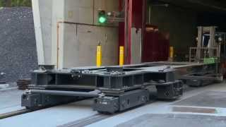 Moving a 190-ton transformer by road, rail and ship