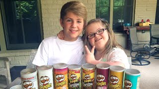getlinkyoutube.com-MattyBRaps vs Sarah Grace - The Pringles Challenge