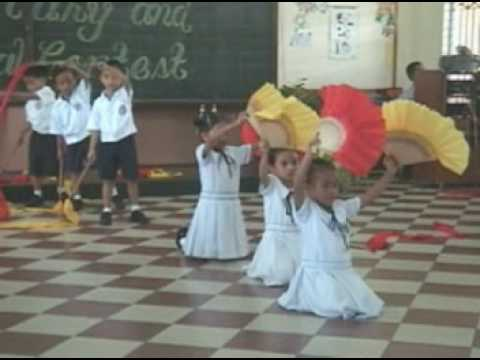 Chinese Ribbon &amp; Fan Dance (kiddie version)
