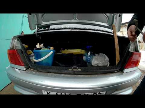 Регулировка замка багажника ваз 2115. Плохо закрывается багажник