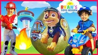 getlinkyoutube.com-PAW PATROL TOYS Nickelodeon Giant Egg Surprise opening Nick Jr Power Wheels  kids video