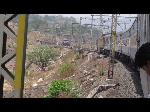 LTT GKP 12542 LHB Rake Entering Kasara [ Indian Railways ]