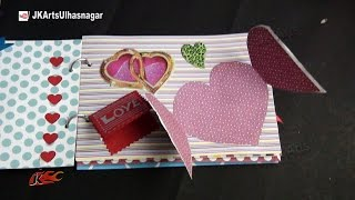 getlinkyoutube.com-Valentine's Day Gift Idea | How to make a Scrapbook |  DIY Scrapbook Tutorial | JK Arts 861