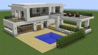 getlinkyoutube.com-Minecraft - How to build a modern house 5