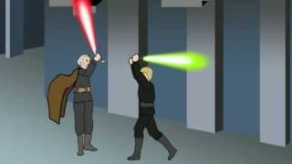getlinkyoutube.com-Luke Skywalker vs The Dark Side (Part 1-Color)