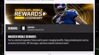 getlinkyoutube.com-How To Become A Legendary Rewards Member! Madden Mobile 16!