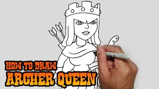 getlinkyoutube.com-How to Draw Archer Queen- Clash of Clans- Video Lesson