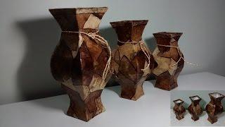 getlinkyoutube.com-Conjunto de 3 vasos feito com caixa de leite e filtro de café!