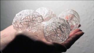 getlinkyoutube.com-White and airy egg decoration- Décoration oeufs blancs légers comme l'air