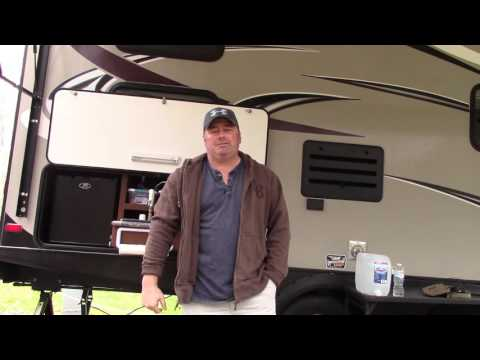 Rv camping and outdoor kitchen