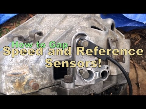 How to gap Porsche 944 speed and reference sensors