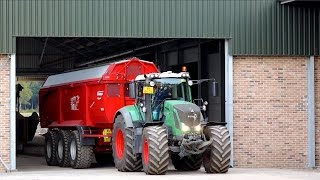 getlinkyoutube.com-Harvesting Potatoes | 2x AVR Puma 3 + FENDT 939 & 828 tractors | vd Borne Aardappels