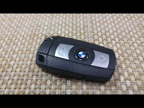 How to change/replace smart key fob Battery BMW 1, 3, 5, 7 series & X5 FCC KR55WK49147