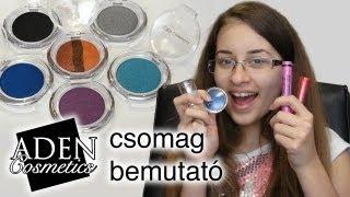 getlinkyoutube.com-ADEN Cosmetics Csomag Bemutató