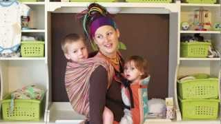 getlinkyoutube.com-Tandem babywearing with a woven wrap & a Beco Butterfly SSC!