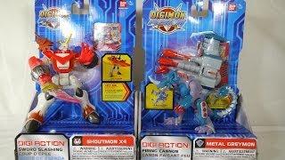 getlinkyoutube.com-Review: Digi-Action - Shoutmon X4 & Metal Greymon (Digimon Fusion)