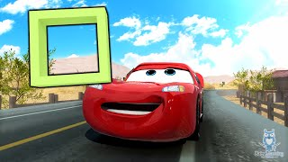 Learning Shapes with Lightning McQueen | Cars English Education Songs